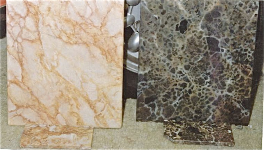 Fantasy finishes inc faux marble samples painted to match smaller real pieces altavistaventures Image collections